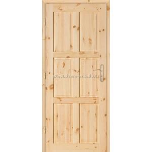 Dřevěné dveře GAZDA 6/P Skladem