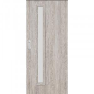 Posuvné dveře do pouzdra EKO 1 dub šedý GREKO
