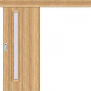 Posuvné dveře na stěnu EKO 1 dub 3D GREKO
