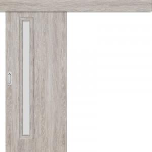 Posuvné dveře na stěnu EKO 1 dub šedý GREKO