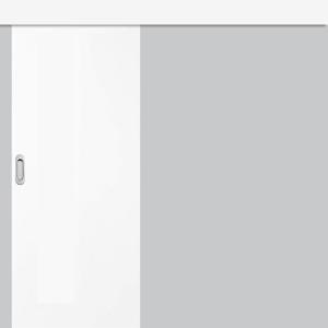 Posuvné dveře na stěnu Plné Hladké -  sněhobíla GREKO