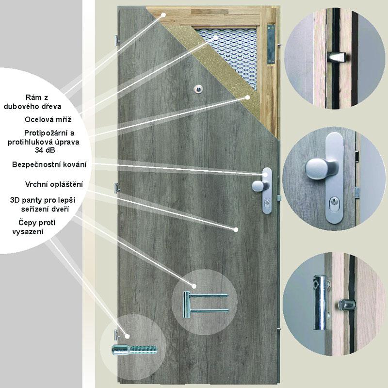 ERKADO Bezpečnostní dveře BT 3